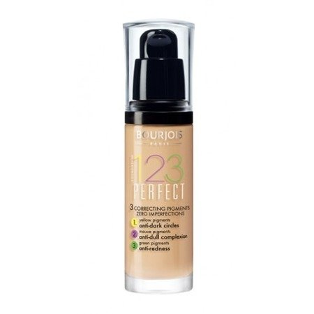BOURJOIS 123 PERFECT  FOUNDATION PODKŁAD DO TWARZY 051 VANILLE CLAIR 30 ML
