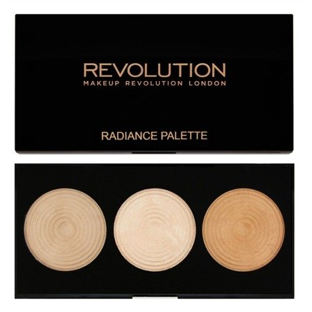 MAKEUP REVOLUTION RADIANT LIGHTS PALETTE RADIANCE PALETA 3 ROZŚWIETLACZY