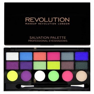 MAKEUP REVOLUTION SALVATION PALETTE COLOUR CHAOS PALETA 18 CIENI DO POWIEK