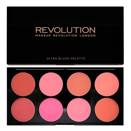 MAKEUP REVOLUTION ULTRA BLUSH PALETTE ALL ABOUT CREAM PALETA 8 KREMOWYCH RÓŻY DO POLICZKÓW