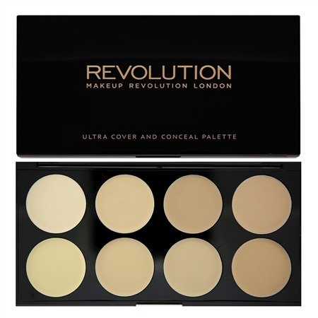 MAKEUP REVOLUTION ULTRA COVER & CONCEAL PALETTE LIGHT PALETA 8 KREMOWYCH KOREKTORÓW
