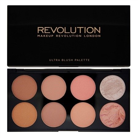 MAKEUP REVOLUTION ULTRA PROFESSIONAL BLUSH PALETTE HOT SPICE PALETA 8  PUDROWYCH RÓŻY DO POLICZKÓW